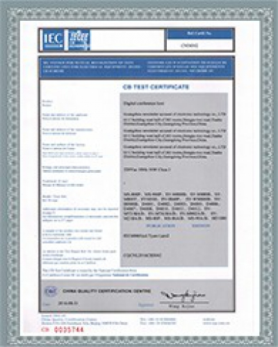 CB Certificate for Products